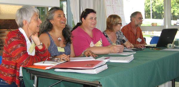 Ginette Gonzalez, Belén Alonso, Claribel Girbelle, Yveline Jarlaud, Etienne Frommelt