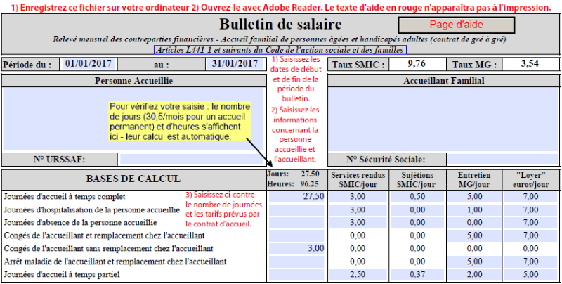 modele bulletin de salaire mi temps therapeutique